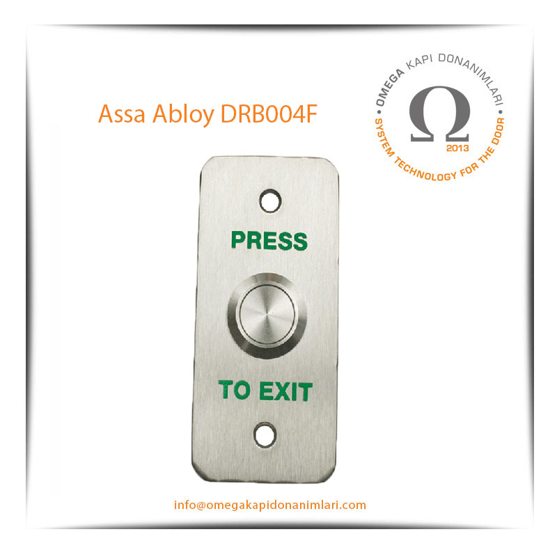 Assa Abloy DRB004F Paslanmaz Çıkış Butonu Gömme Tip