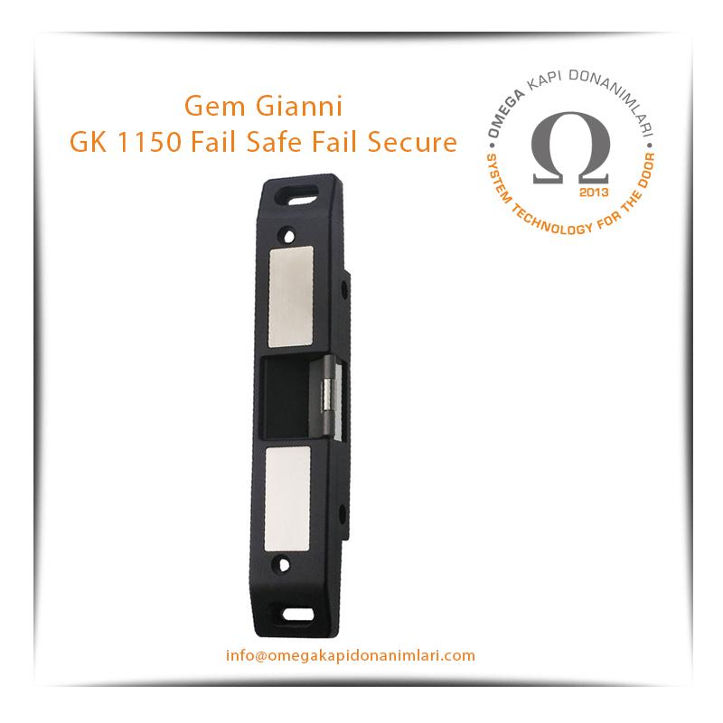 Gem Gianni GK 1150 Fail Safe Fail Secure Elektrikli Kilit Karşılığı Bas Aç