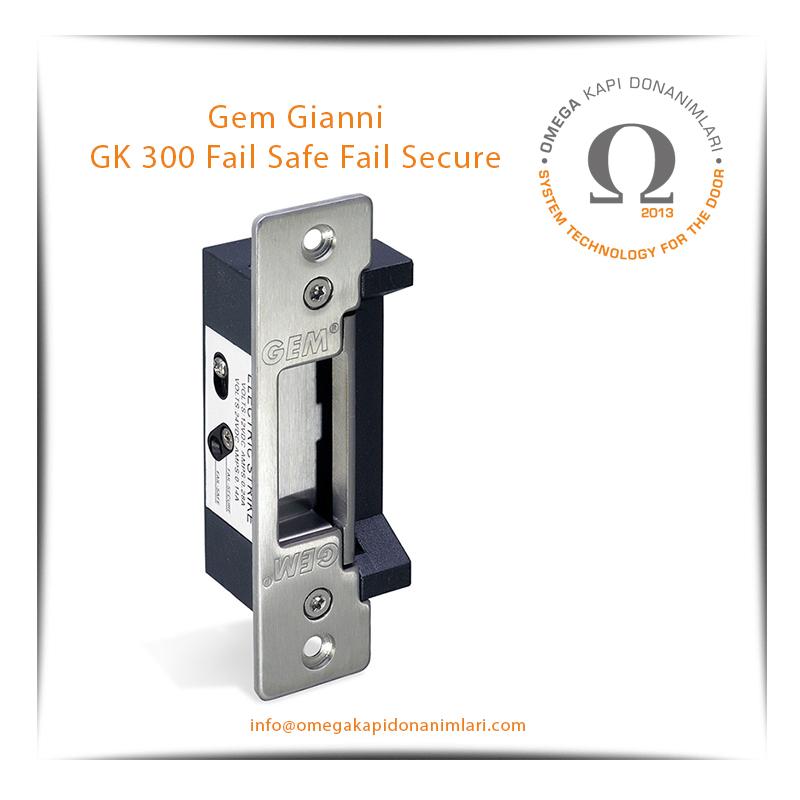 Gem Gianni GK 300 Fail Safe Fail Secure Elektrikli Kilit Karşılığı Bas Aç