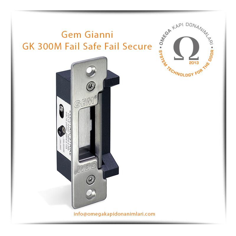 Gem Gianni GK 300M Fail Safe Fail Secure Elektrikli Kilit Karşılığı Bas Aç