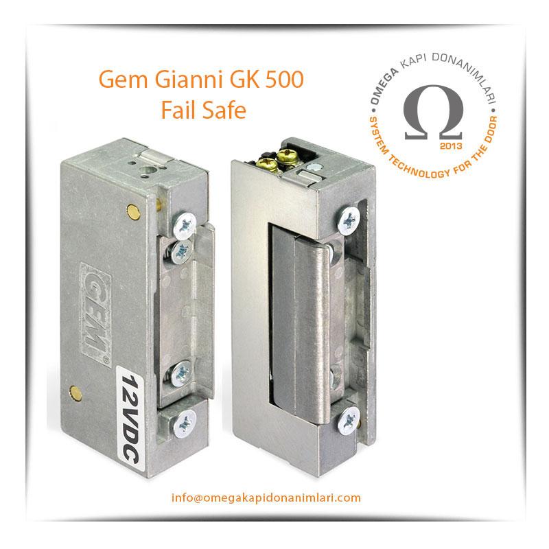 Gem Gianni GK 500 Fail Safe Elektrikli Kilit Karşılığı Bas Aç