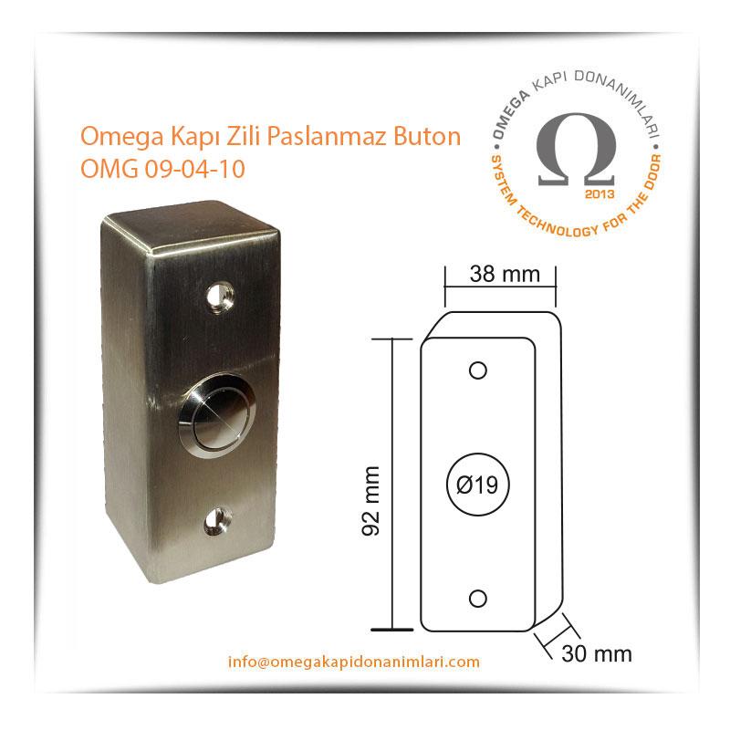 Omega Kapı Zili Paslanmaz Buton OMG 09-04-10