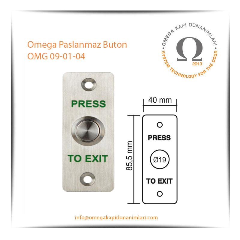 Omega Paslanmaz Buton OMG 09-01-04