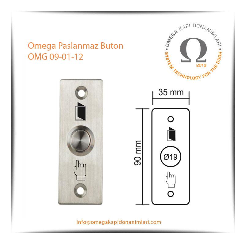 Omega Paslanmaz Buton OMG 09-01-12