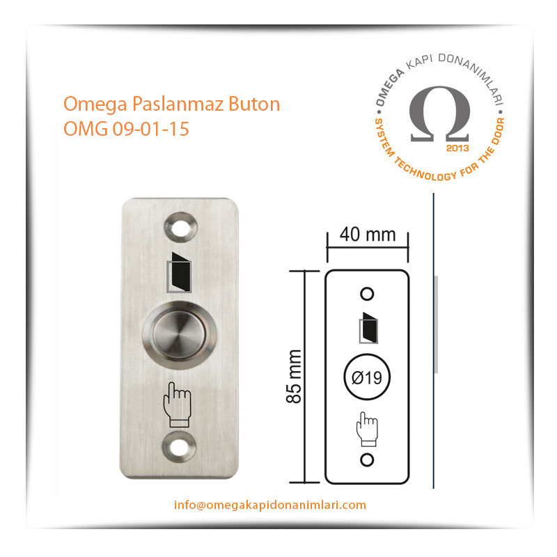 Omega Paslanmaz Buton OMG 09-01-15