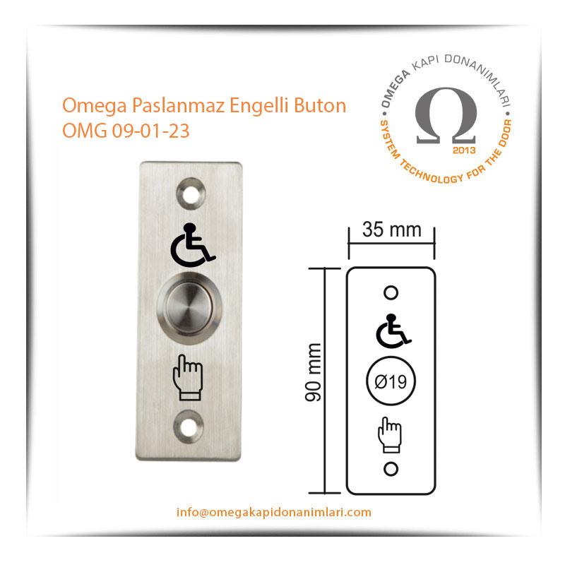 Omega Paslanmaz Engelli Buton OMG 09-01-23