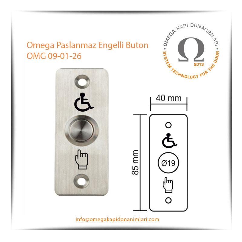 Omega Paslanmaz Engelli Buton OMG 09-01-26