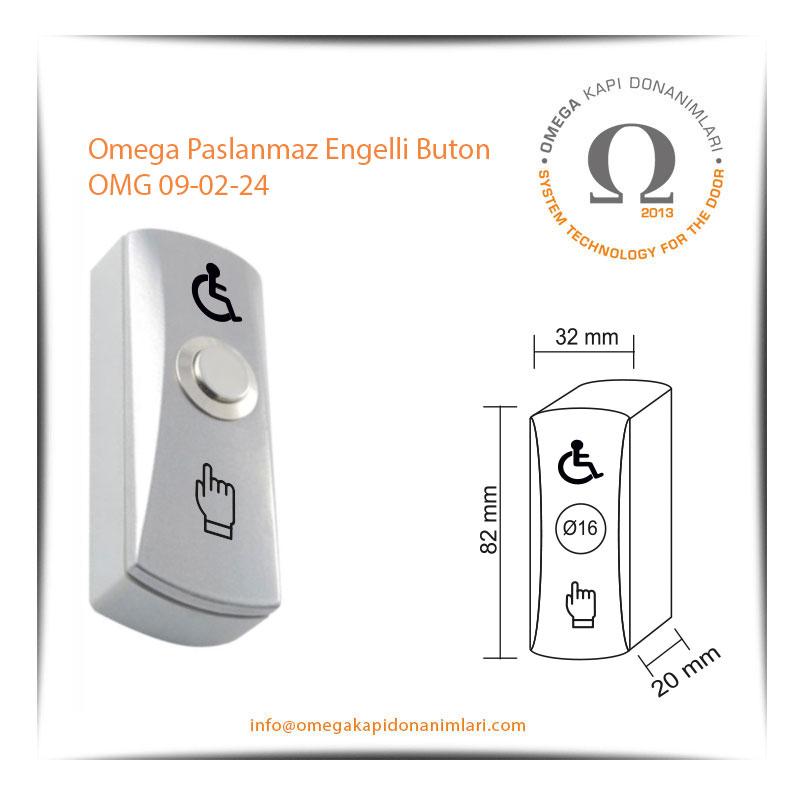 Omega Paslanmaz Engelli Buton OMG 09-02-24