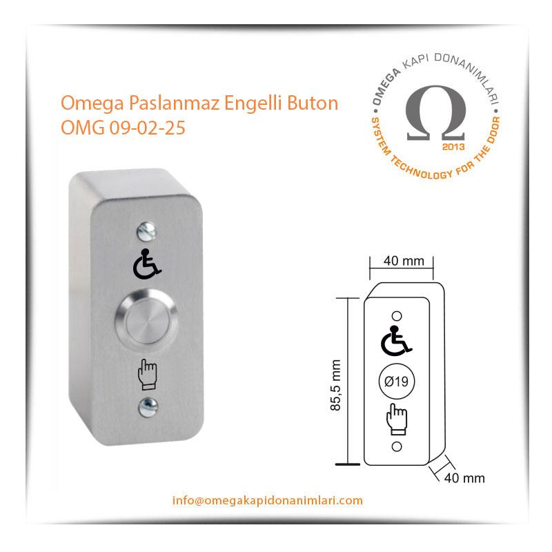 Omega Paslanmaz Engelli Buton OMG 09-02-25