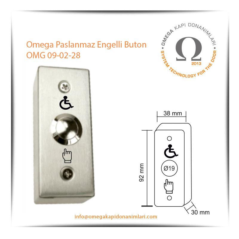 Omega Paslanmaz Engelli Buton OMG 09-02-28