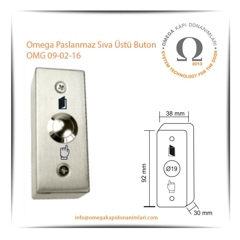 Omega Paslanmaz Sıva Üstü Buton OMG 09-02-16