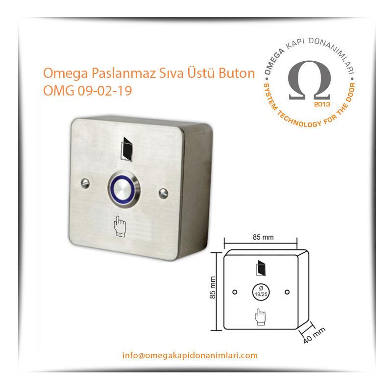 Omega Paslanmaz Sıva Üstü Buton OMG 09-02-19