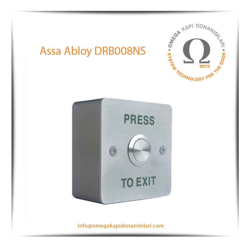 Assa Abloy DRB008NS Paslanmaz Çıkış Butonu Yüzey Tip