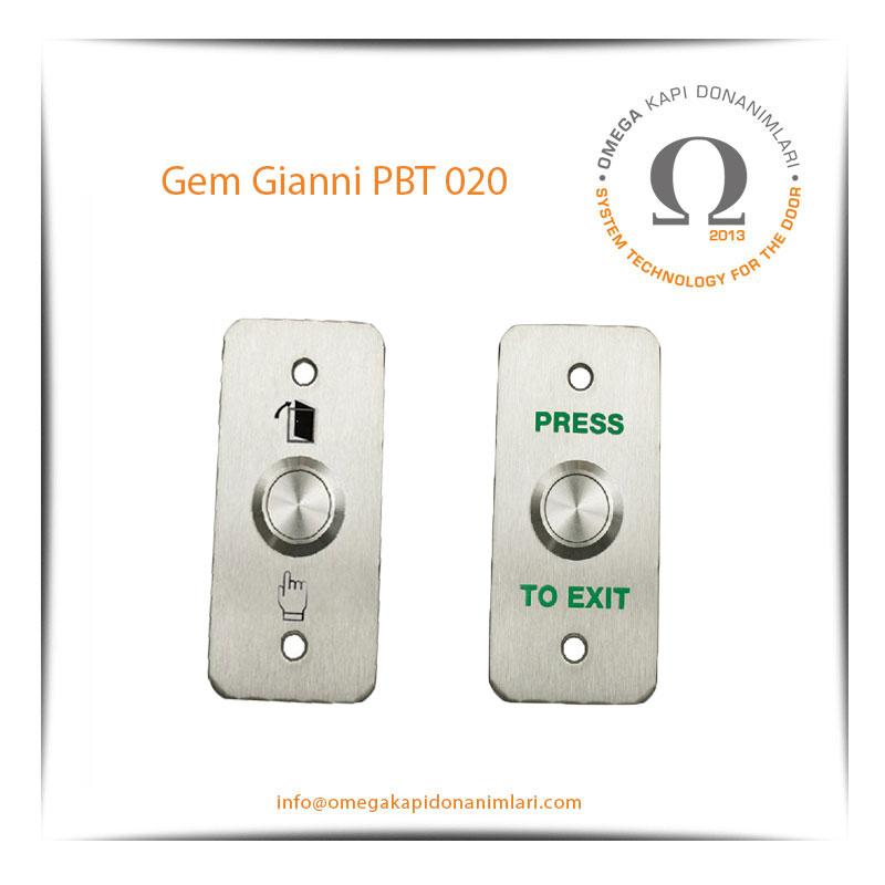 Gem Gianni PBT 020 Paslanmaz Çıkış Butonu Gömme Tip