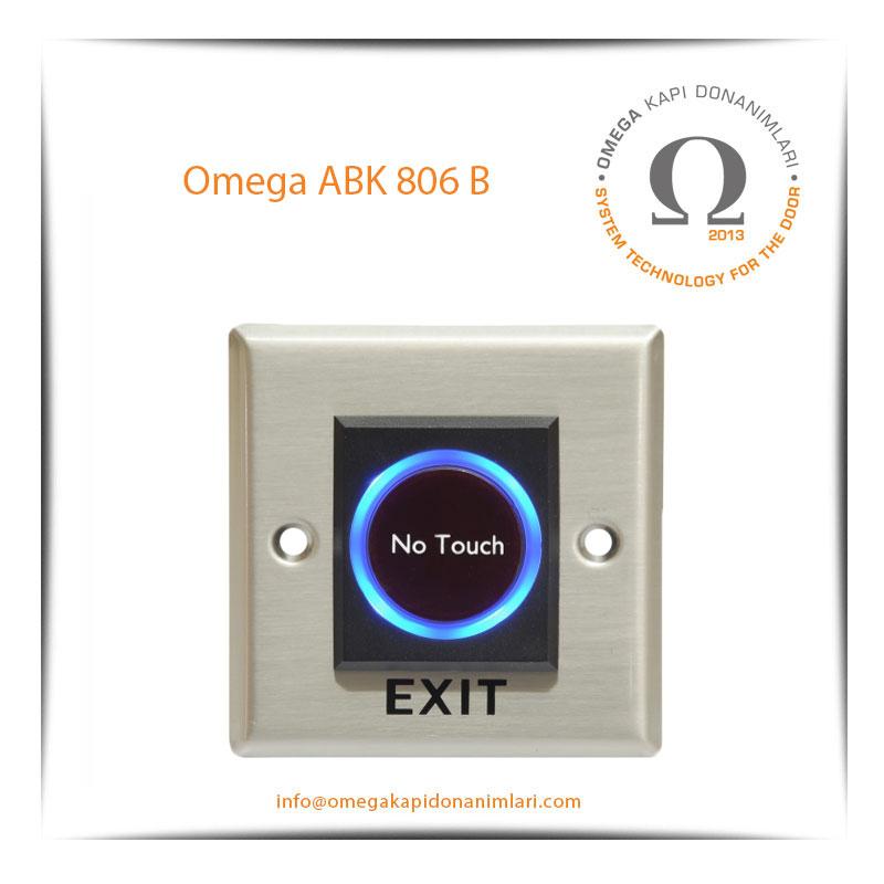 Omega ABK 806B No Touch Paslanmaz Çıkış Butonu Gömme Tip