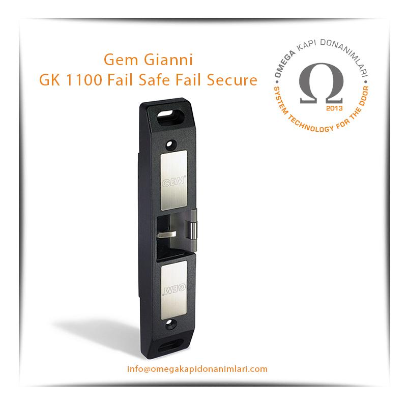 Gem Gianni GK 1100 Fail Safe Fail Secure Elektrikli Kilit Karşılığı Bas Aç