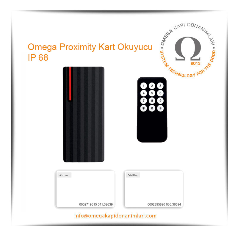 Omega Proximity Kart Okuyucu IP 68