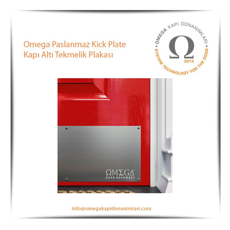 Omega Paslanmaz Kick Plate Kapı Altı Tekmelik Plakası