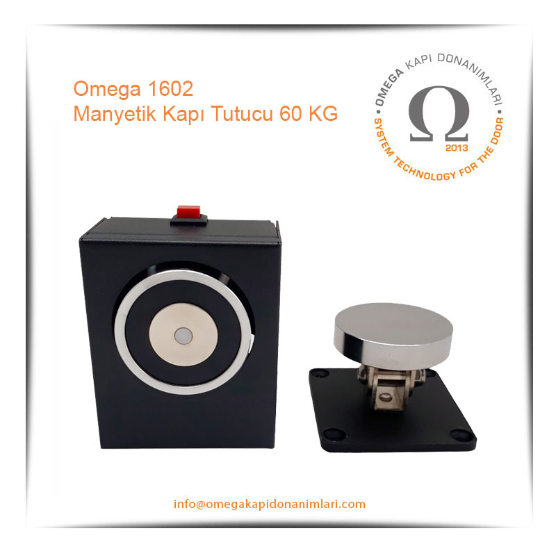 Omega 1602 Manyetik Kapı Tutucu 60 KG
