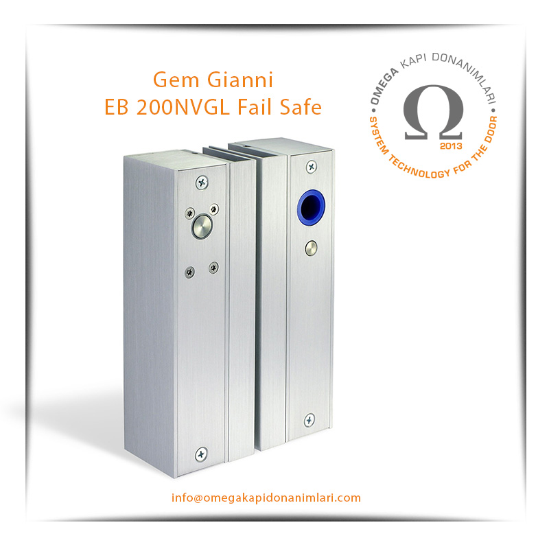 Gem Gianni EB 200NVGL Fail Safe Selenoid Solenoid Kilit