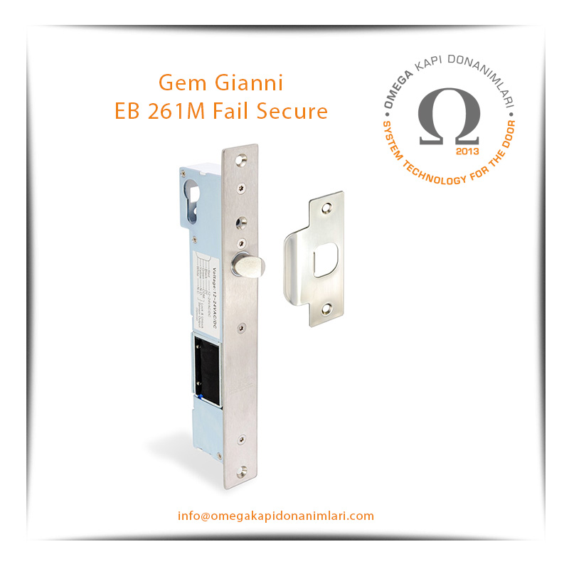 Gem Gianni EB 261M Fail Secure Selenoid Solenoid Kilit