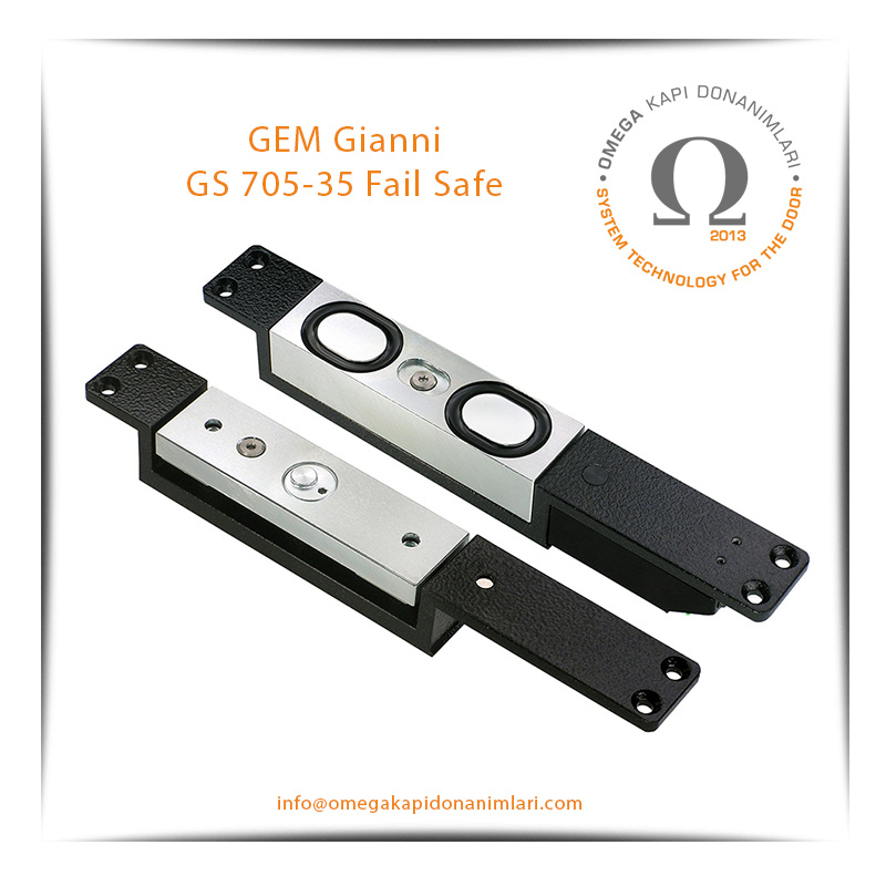 GEM Gianni GS 705-35 Fail Safe Shearmagnet Kilit